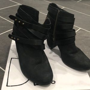 """Nordstrom's BP """"Train"""" wrapped belted bootie"""